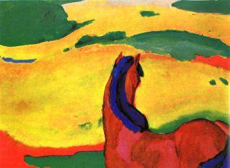 Franz Marc, Cavallo nel paesaggio, 1910, Essen, Folkwang Museum, olio su tela