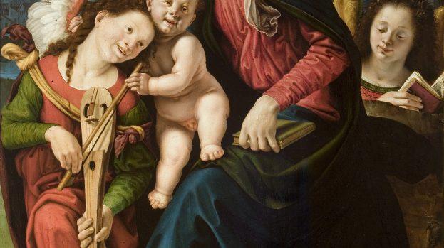 Madonna con il Bambino e due angeli