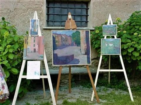 Mostra al giardino Palazzo Doria..l'artista era Greta Penacca