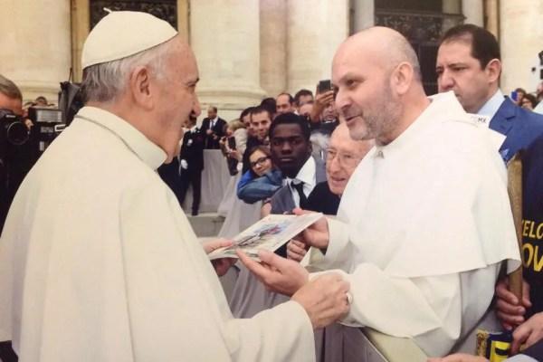L'incontro di fratel Costantino de Bellis e Papa Francesco