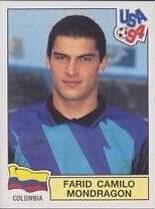 """Faryd (nelle figurine italianizzato in """"Fabio"""") Camilo Mondragòn, recordman dei Mondiali a 43 anni, ai tempi di USA '94"""