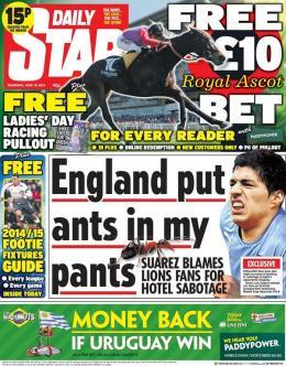 Il Daily Star ipotizza uno strano complotto ai danni di Luis Suarez