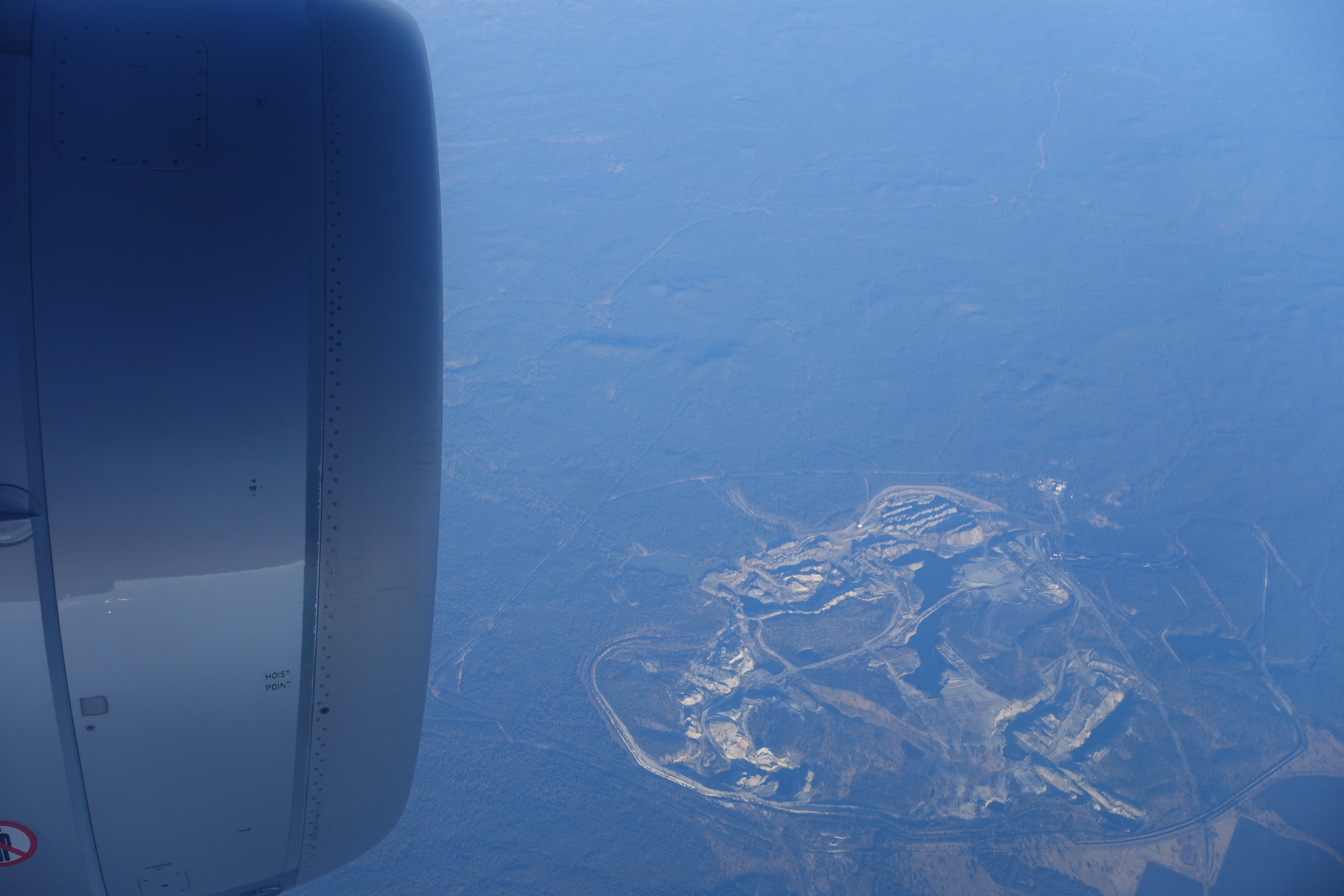 An open cut mine from above