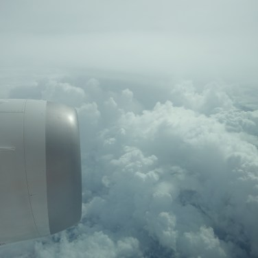 Flying through cloud