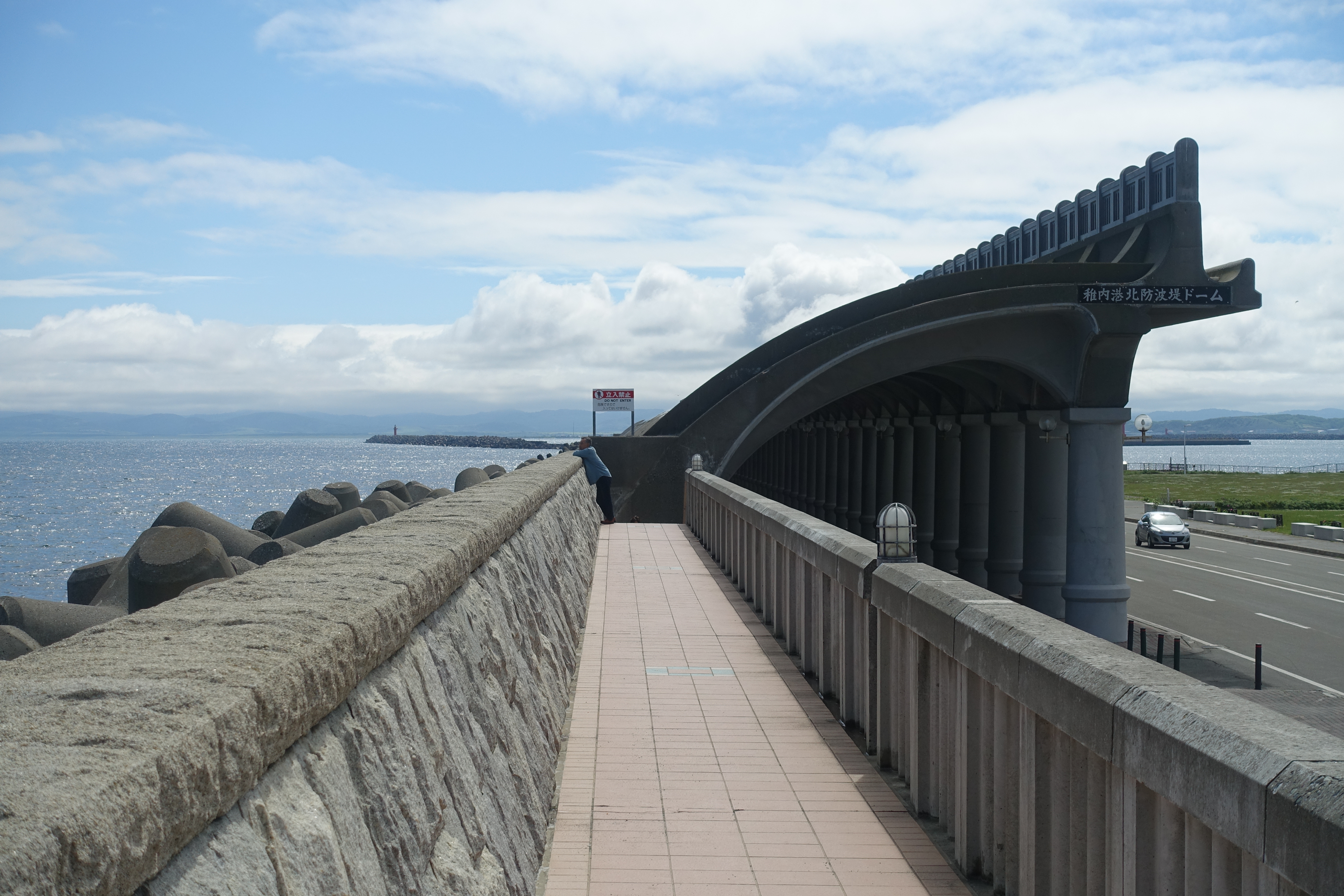 Walkway to breakwater
