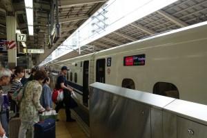Boarding a Shinkansen