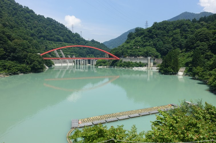 Unazuki Dam bridge