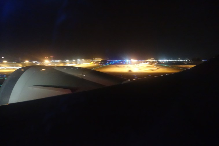 Take-off at night