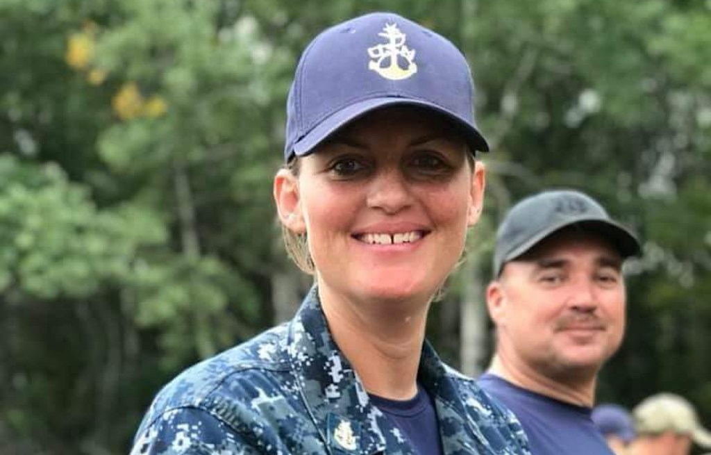 Shelby Hoffman in the Navy