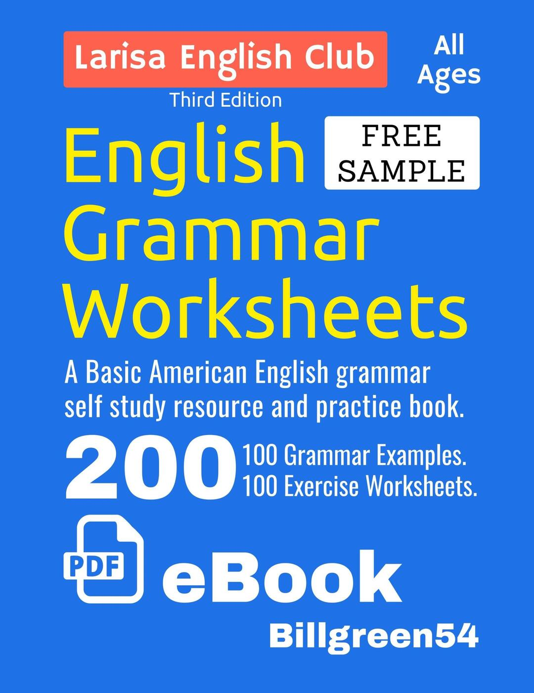 English Grammar Worksheets By Billgreen54