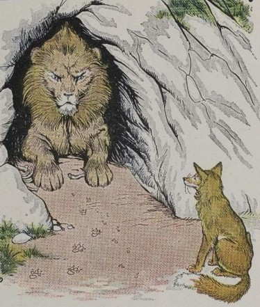 THE OLD LION AND THE FOX