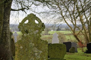 Cemetery in the churchyard adjacent to Hill of Tara.