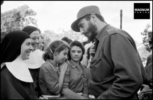 CUBA. La Havana. 1959. Fidel CASTRO speaking to a nun. ©BurtGlinn/Magnum