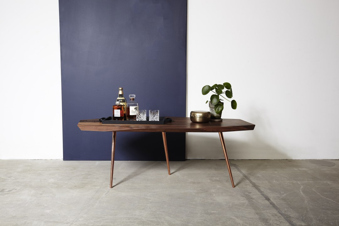 Sofabord med Kobberben '18 - Coffee table Copper legs