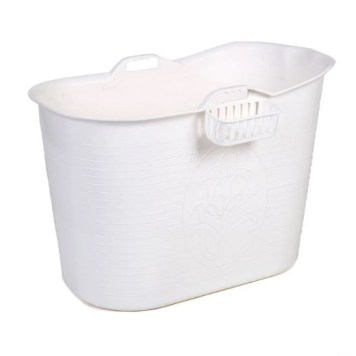 Compact Bathtub Bath Bucket | White