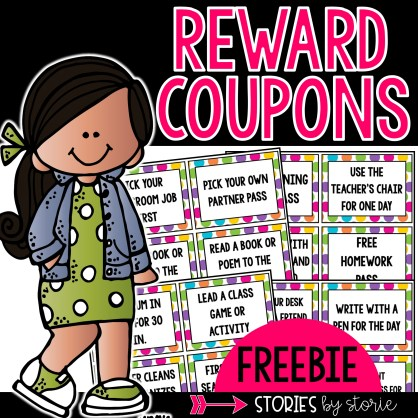 Are you looking for free or low-cost classroom rewards for your students? Here are 24 coupons you can use in your classroom. Some of the rewards include homework pass, eat lunch with the teacher and a friend, sit by a friend for the day, wear a hat in class, skip morning work pass, and many more!