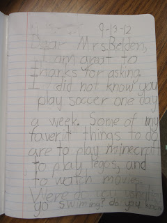 Dear Mrs. B (Letters from Second Graders)