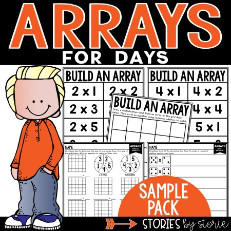 Are you working on arrays? This sample resource includes a few activities to help students work with arrays, repeated addition, and equal groups.