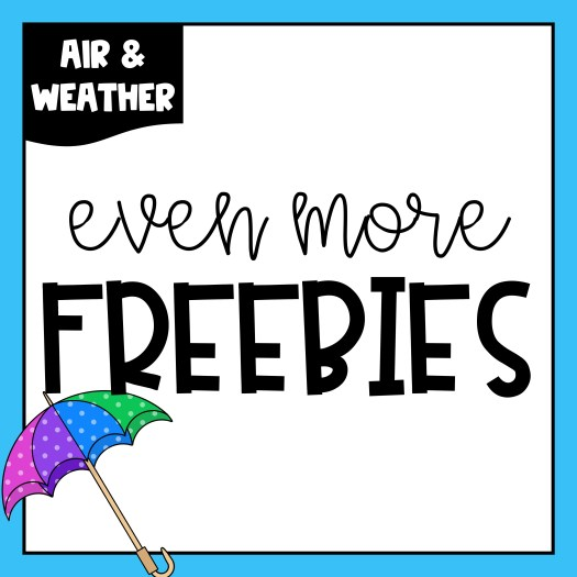 If you are starting your Air & Weather unit soon, be sure to grab some of these freebies! I have included a few chapter book suggestions along with graphic organizers to use with your readers. You'll also find some air and weather worksheets including reading a thermometer, cloudy contractions, ABC order, and a word search.