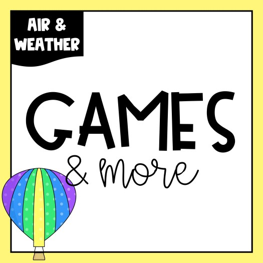 If you are starting your Air & Weather unit soon, be sure to grab these free games and activities. You'll find addition and subtraction games along with some graphing activities. I have also included some art ideas your students will love.