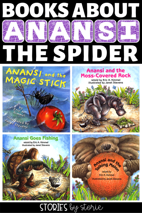 Anansi is an African folktale character who often takes the shape of a spider. He has been written about for years, often in many ways. My favorite version of his stories are retold by Eric A. Kimmel.