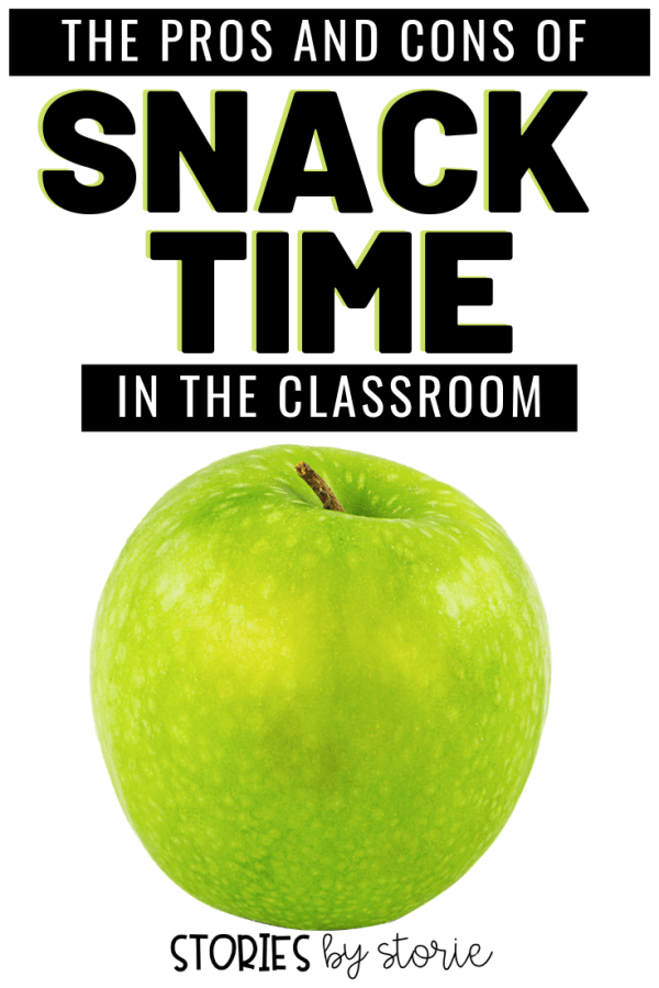 In all my years of teaching, I don't think I have ever done things the same way twice.  This includes the decision about having a dedicated snack time or going without.  I can't speak for the masses, so today I'm here to share the pros and the cons of having snack time in my classroom.