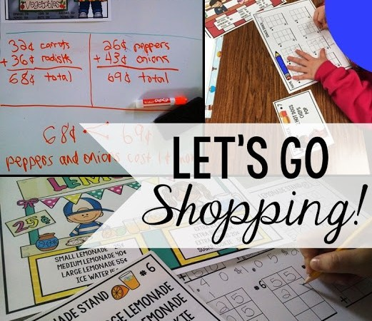 Addition with Regrouping – Let's Go Shopping!
