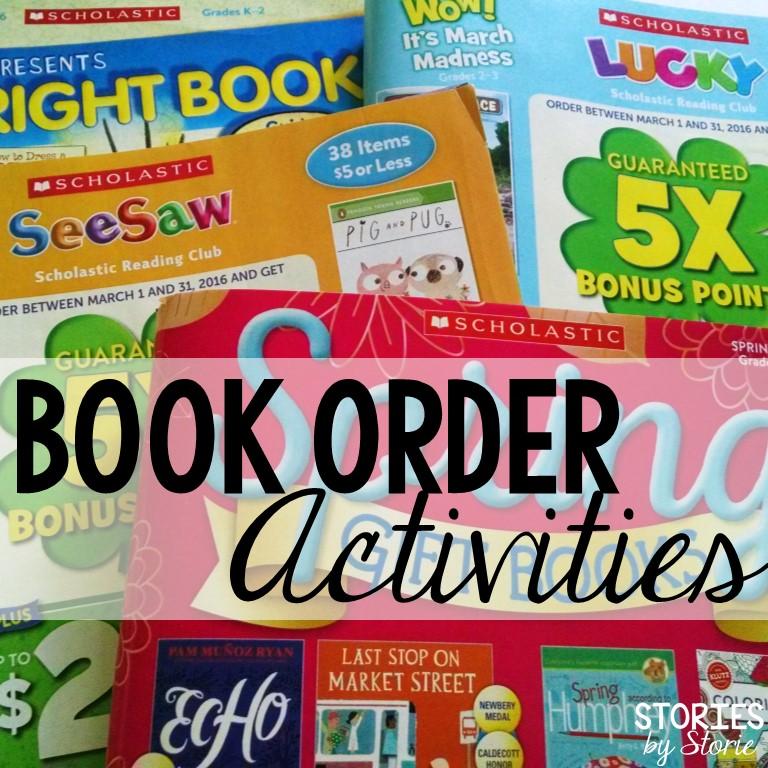 Scholastic Book Order Activities