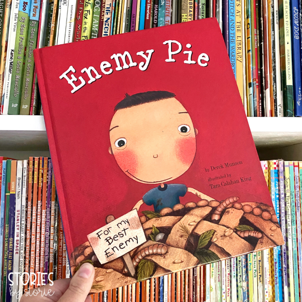 Enemy Pie by Derek Munson is one of my favorite read alouds to start the school year! Not only does this book provide teachable moments about friendship, but students relate to it and love the surprise ending.