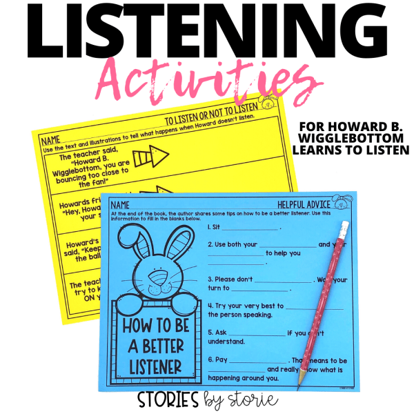These listening activities can be used with Howard B. Wigglebottom Learns to Listen.