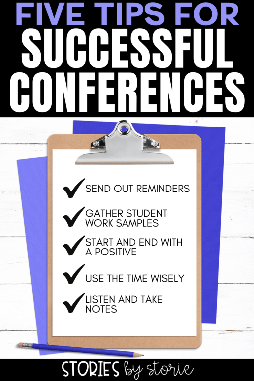 Conferences are a great time to connect with families, but they can be stressful! Here are some tips to keep in mind as you get ready for conference week.
