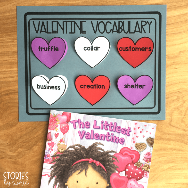 Students can focus on vocabulary in a creative way with this Valentine Vocabulary craft. Students will create a tray of hearts. Inside each heart they can write the definition and draw a picture to match the vocabulary word.