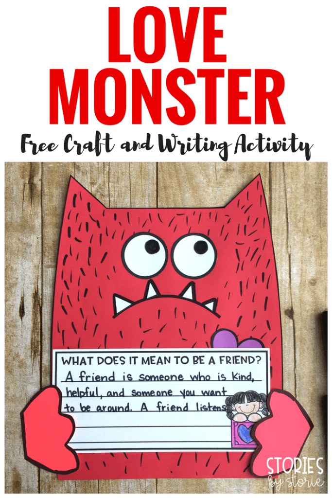 After reading Love Monster by Rachel Bright, students can create their own love monsters with this free craft. You can choose between three different writing options.