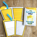 This lemonade craft booklet can be used with The Lemonade War by Jacqueline Davies. There are three different writing templates included.