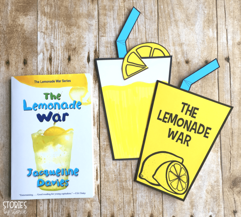 This lemonade craft booklet can be used with The Lemonade War by Jacqueline Davies. There are two different cover options.