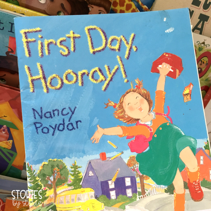 First Day, Hooray by Nancy Poydar is a great story to read on the first day of school to students who are both excited and a little nervous about starting school.