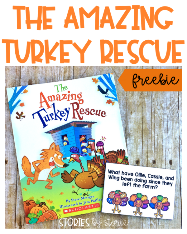 The Amazing Turkey Rescue by Steve Metzger is an entertaining book to read before Thanksgiving. Here is a set of discussion questions and a sequencing activity that can be used with this story.