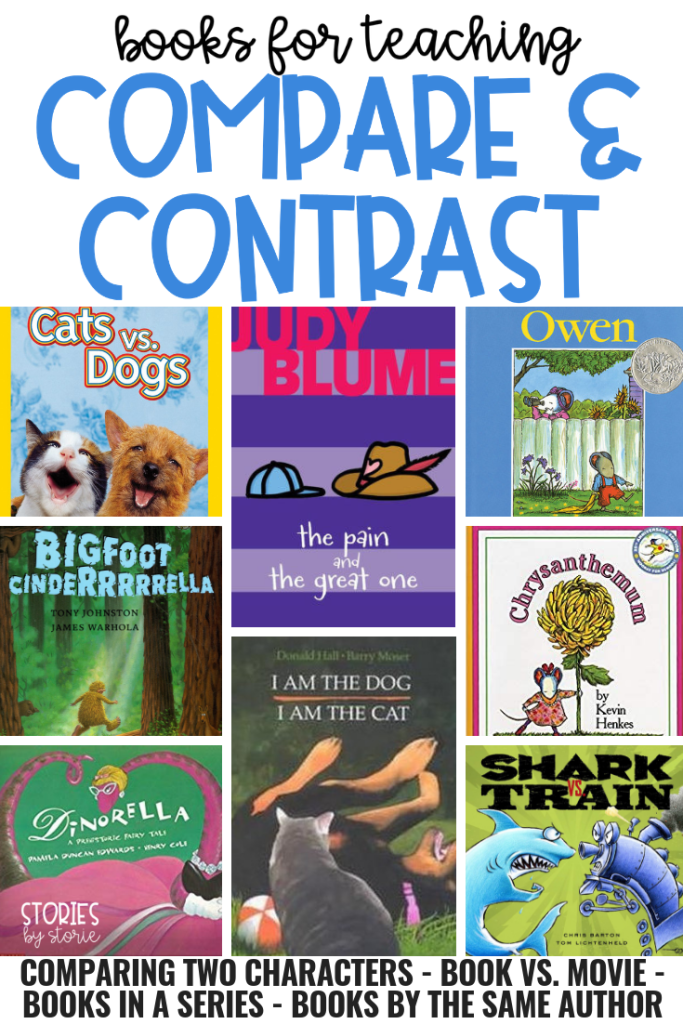 Are you getting ready to teach your students to compare and contrast? It's very important to have the right materials on hand. Here are some of my favorite books to use when teaching students to compare and contrast.