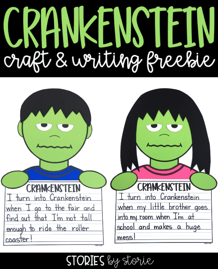 Are you reading Crankenstein by Samantha Berger to your students this year? I have a Crankenstein craft and writing activity that you can use with your students after reading this story.