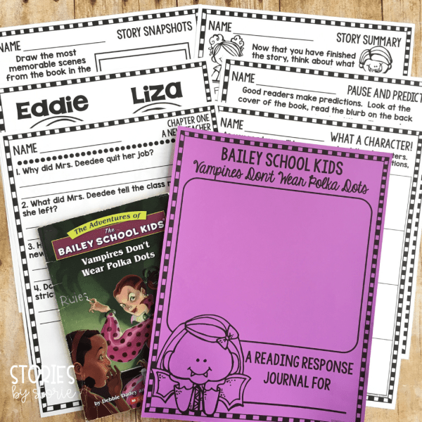 If you're planning to use the Bailey School Kids books with your reading group or book club, you can use a reading response journal to keep all of the student materials in one place. These book companions contain comprehension questions to guide your readers and a handful of graphic organizers.