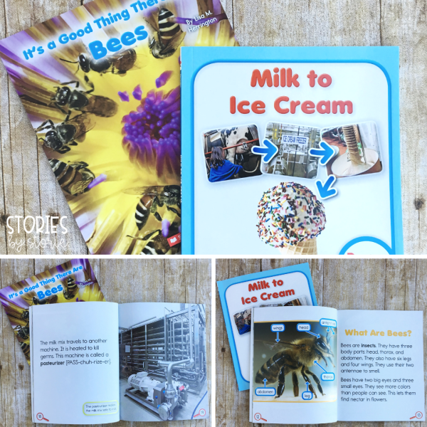 Rookie Read-About Science books are a great nonfiction book series for younger students who are curious about science topics, but not ready for complex texts. These books break down content into kid-friendly language and include photographs that support the information included.