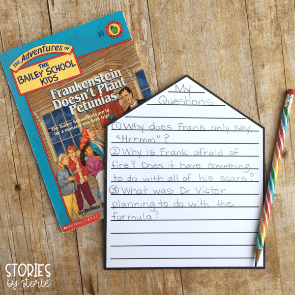 These open-ended response pages can be used with any of the books in the Bailey School Kids series. These are great for students working on visualization, vocabulary, making connections, questions, and more!