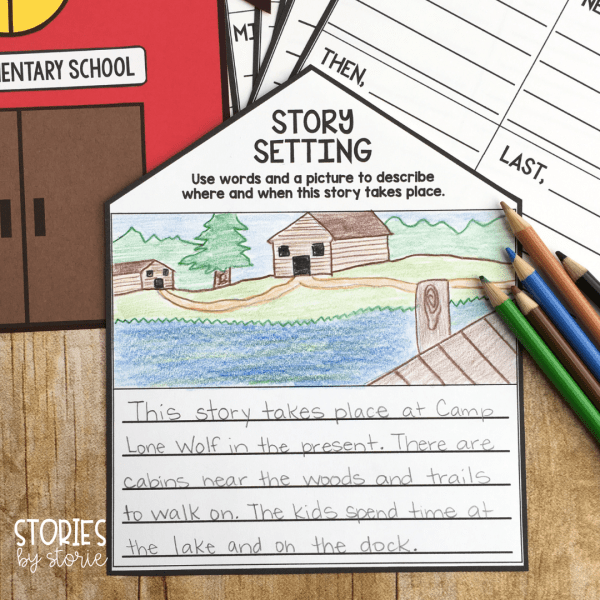 There are six pre-made reading response templates you can use with this Bailey School Kids school house craft. These include story setting, problem & solution, character description, story summary, favorite part, and a book review.