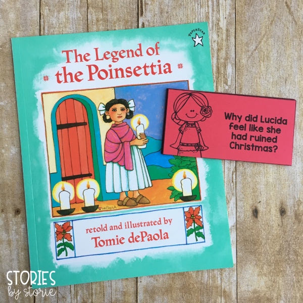 There are 12 comprehension questions written for The Legend of the Poinsettia by Tomie dePaola. These can be used to help guide student discussion while reading the story or used to check for understanding when finished.