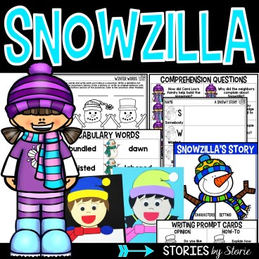 This book companion for Snowzilla by Janet Lawler contains comprehension and vocabulary activities along with a fun winter kid craft.