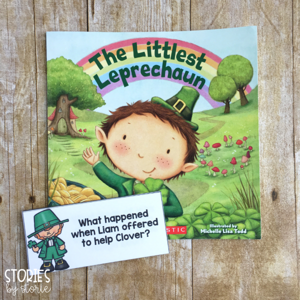 While reading The Littlest Leprechaun, these comprehension cards can help guide student discussion. Students can also respond to these questions in a writing journal.