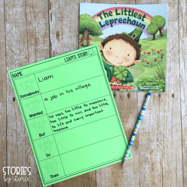 Once students have finished reading The Littlest Leprechaun, they can practice summarizing with this graphic organizer. There is also a Beginning-Middle-End option included.