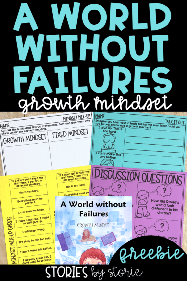 Having a growth mindset can help children take on challenges. One way to introduce a growth mindset is through books. A World Without Failures by Esther Pia Cordova helps explain why failure can be a good thing. Here are some activities you can pair with this story.