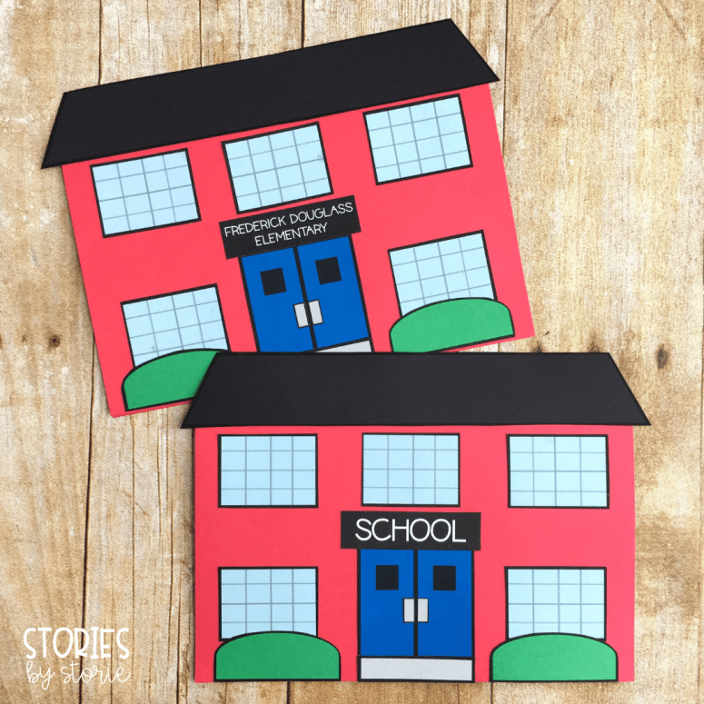 School's First Day of School - This school craft doubles as a writing booklet. Students can respond to the story or to one of the included writing prompts.