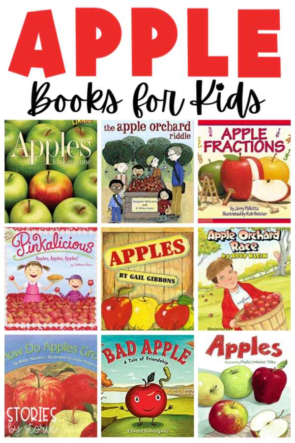 School is back in session and fall is right around the corner. This is the perfect time to learn all about apples. Here are some great apple books for kids. This list includes both fiction and nonfiction titles.